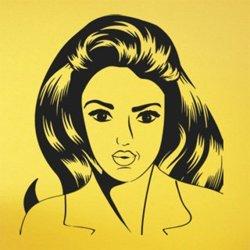 Samolepky na zeď Retro žena z komiksu 1067