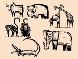 Samolepky na zeď Africká zvířata 001