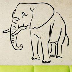 Samolepky na zeď Slon 1131