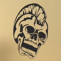Samolepky na zeď Punk lebka 1171