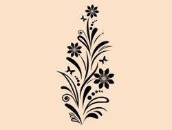 Samolepky na zeď Květiny s motýly 006