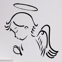 Samolepky na zeď Anděl se modlí 1237