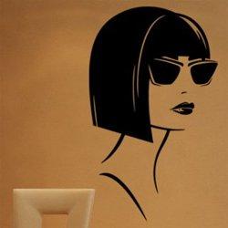 Samolepky na zeď Žena v brýlích 1077