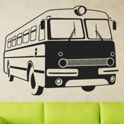 Samolepky na zeď Retro autobus 0790