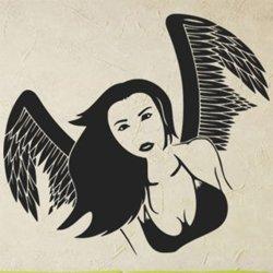Samolepky na zeď Anděl žena 1234