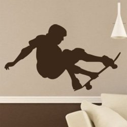 Samolepky na zeď Skateboardista 004