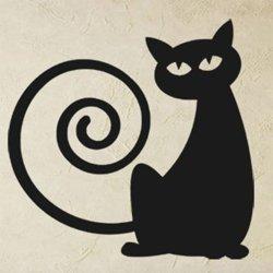 Samolepky na zeď Kočka 0443
