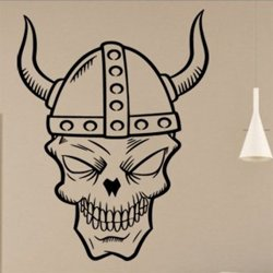 Samolepky na zeď Lebka s rohy 1176