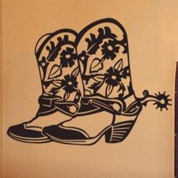 Samolepky na zeď Country boty 001