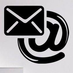 Samolepky na zeď Email 0199