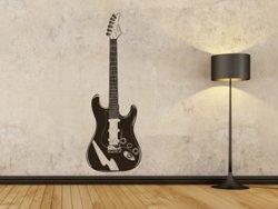 Samolepky na zeď Kytara 002 - Samolepící dekorace a nálepka na stěnu