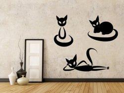 Samolepky na zeď Sada koček 0455