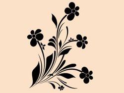 Samolepky na zeď Květiny 036