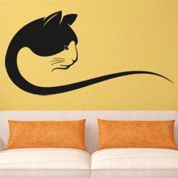 Samolepky na zeď Kočka 0498