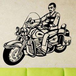 Samolepky na zeď Motorkář 1004