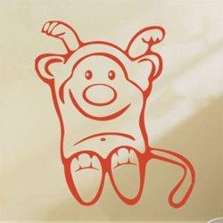 Samolepky na zeď Opička 003