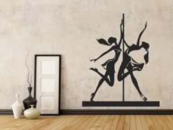 Samolepky na zeď Pole dance 0981