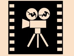 Samolepky na zeď Filmová kamera 0206