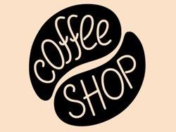 Samolepky na zeď Nápis Coffee shop 0055