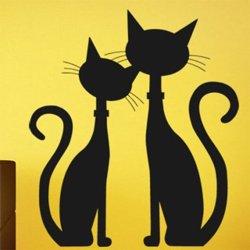 Samolepky na zeď Dvě kočky 0449