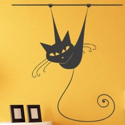 Samolepky na zeď Kočka 013