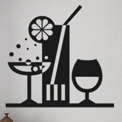 Samolepky na zeď Drinky 001