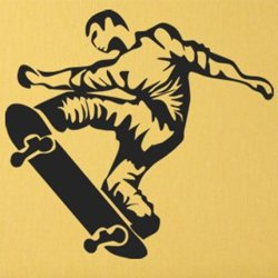 Samolepky na zeď Skateboardista 0954