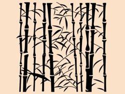 Samolepky na zeď Bambus 008