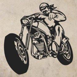 Samolepky na zeď Motorkář 1002