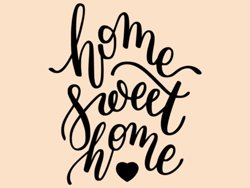 Samolepky na zeď Nápis Home Sweet Home 0634