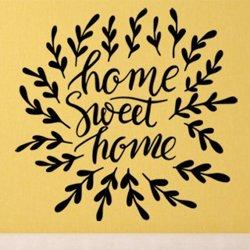 Samolepky na zeď Nápis Home Sweet Home 0627