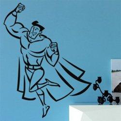 Samolepky na zeď Superhrdina 002