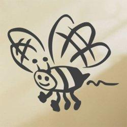 Samolepky na zeď Včela 002