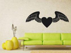 Samolepky na zeď Srdce s křídly 0268