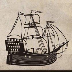 Samolepky na zeď Loď plachetnice 0923