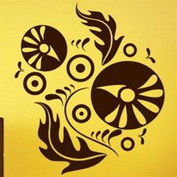Samolepky na zeď Ornamenty z rostlin 011