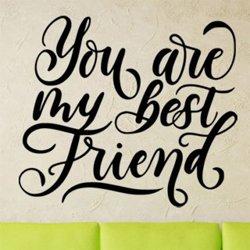 Samolepky na zeď Nápis You are my best friend 0651