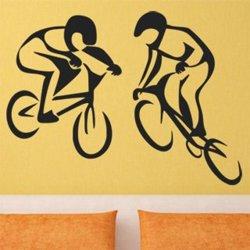 Samolepky na zeď BMX biker 1046