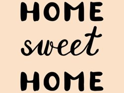 Samolepky na zeď Nápis Home Sweet Home 0628
