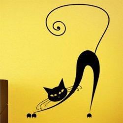 Samolepky na zeď Kočka 011