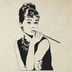 Samolepky na zeď Audrey Hepburn 1368