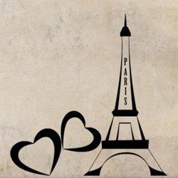 Samolepky na zeď Eiffelova věž 0307
