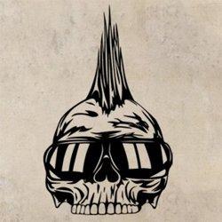 Samolepky na zeď Punk lebka 1207