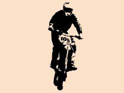 Samolepky na zeď Motorka 006