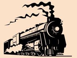 Samolepky na zeď Vlak 005
