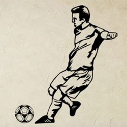 Samolepky na zeď Fotbalista 0592