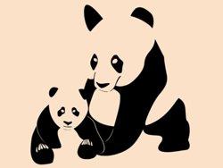 Samolepky na zeď Panda 001