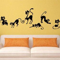 Samolepky na zeď Kočička 004