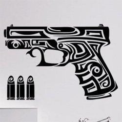 Samolepky na zeď Pistole 0238