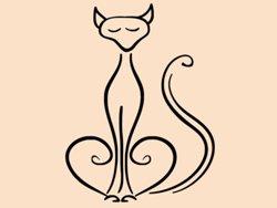 Samolepky na zeď Kočka 0436